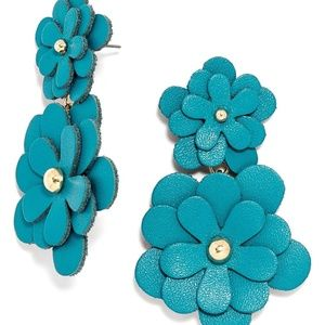 BaubleBar Blue Flower Earrings